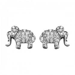 boucles d oreilles éléphants oxydes