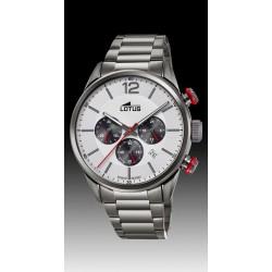 montre lotus chrono quartz  étanche 10 atm bracelet métal