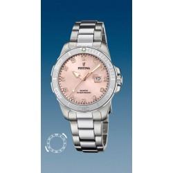 montre dame quartz bracelet acier date et index oxydes étanche10 atm