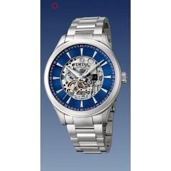 coffret montre festina automatique  troteuse centrale  étanche  5 atm bracelet métal