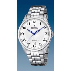 montrefestina quartz  date a 6h troteuse centrale  étanche  10 atm bracelet métal