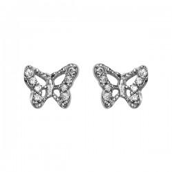 boucles d oreilles papillon oxydes